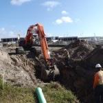 TIA Concrete Pad Intallation Prep Paving